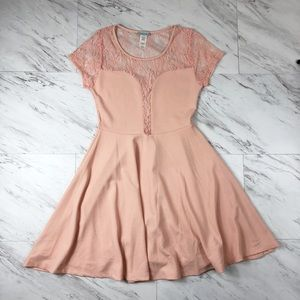 Dresses & Skirts - Plus Size Blush Dress with Lace Back Detail